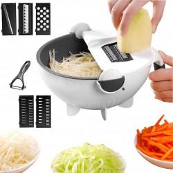 Coupe-légumes multifonctionnel à panier humide