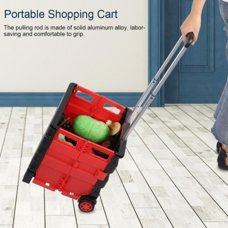 Chariot de courses Portable et pliable