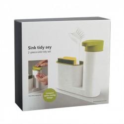 2en1 Organisateur de stockage - Porte-savon avec distributeur de liquide