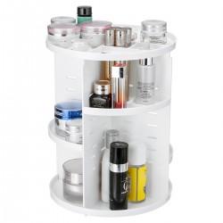 Organisateur de rotation 360 ° - Stockage cosmétiques - Maquillage et produits - Blanc