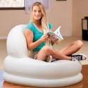 Intex Fauteuil gonflable - Portable - 99 x 84 x 76 cm- Blanc