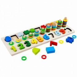 3en1 matching board - en Bois - Educatif
