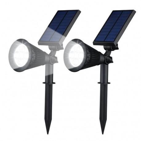 PACK de 2 Solar spot light imperméable à l'eau