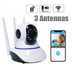 Caméra de surveillance - 3 Antennes- IP wifi - HD Infrarouge