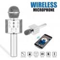 Karaoké Microphone - Sans fil & Haut-parleur - Bluetooth - Gris