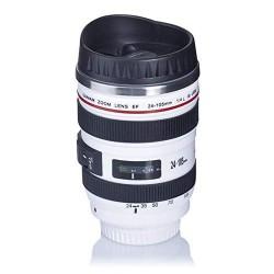 Thermos - Mug - Design objectif d'appareil photo - Noir
